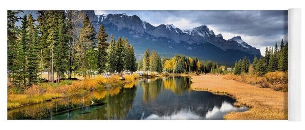 Reflections In Canmore Yoga Mat