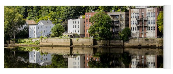 Reflections Of Haverhill On The Merrimack River Yoga Mat