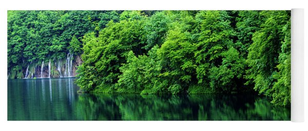 Reflections Of Plitvice, Plitvice Lakes National Park, Croatia Yoga Mat