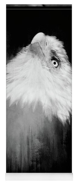 Regal Eagle In Noir Yoga Mat