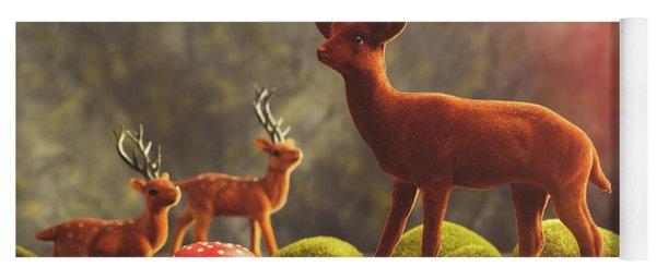Reindeer Scene Yoga Mat