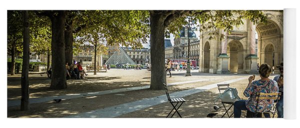 Relaxing Afternoon In Paris Yoga Mat