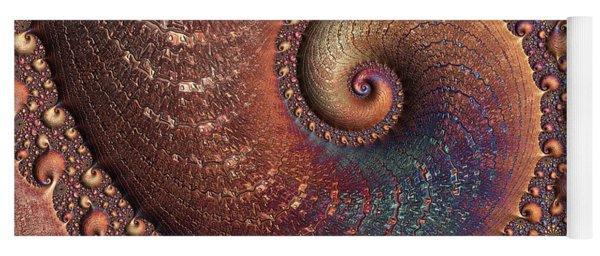 Yoga Mat featuring the digital art Relic by Susan Maxwell Schmidt