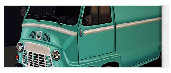 Renault Estafette 1959 Painting Yoga Mat