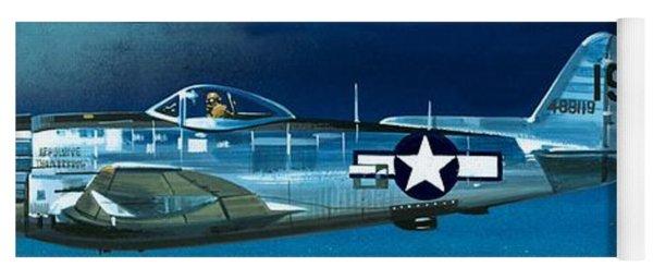 Republic P-47n Thunderbolt Yoga Mat