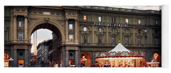 Republic Square In The City Of Florence Yoga Mat