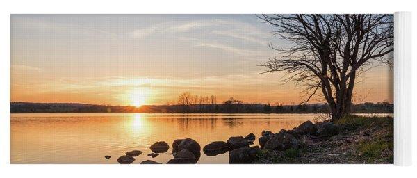 Reservoir Sunset Yoga Mat