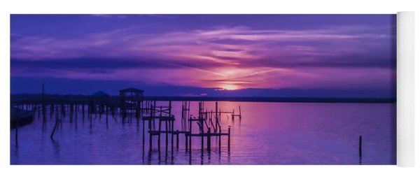 Rest Well World Purple Sunset Yoga Mat