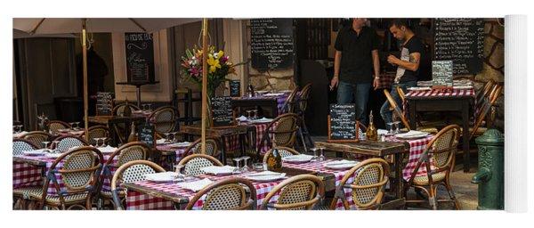 Restaurant On Rue Pairoliere In Nice Yoga Mat