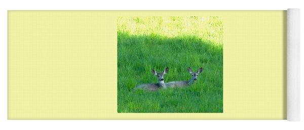 Resting Deer Yoga Mat