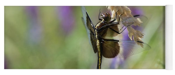 Yoga Mat featuring the photograph Resting Dragonfly by Craig Leaper