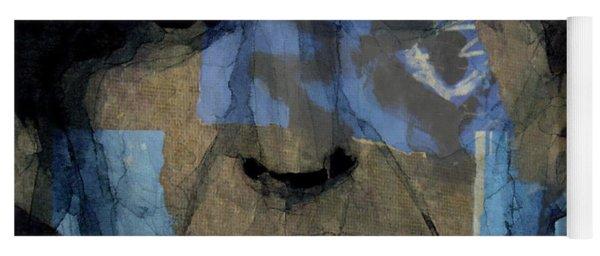 Retro- Famous Blue Raincoat  Yoga Mat
