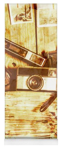 Retro Film Cameras Yoga Mat