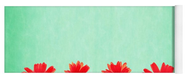 Retro Flowers Yoga Mat