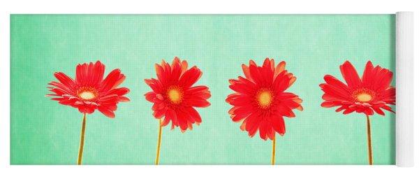 Retro Flowers Yoga Mat