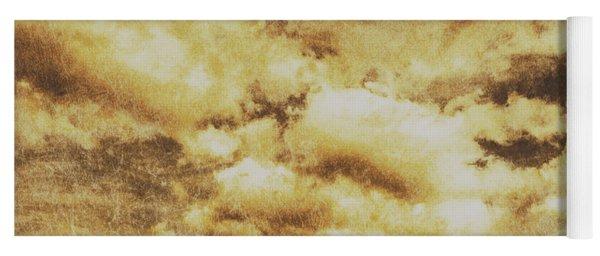 Retro Grunge Cloudy Sky Background Yoga Mat