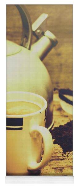 Retro Kettle With The Mug Of Tea Yoga Mat