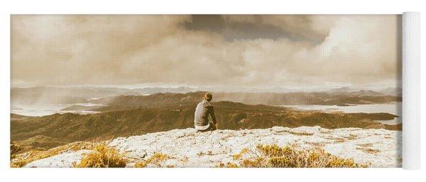 Retro Mountaintop Views Yoga Mat
