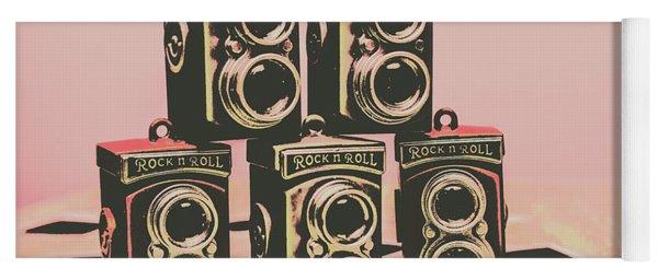 Retro Photo Camera Pop Art  Yoga Mat