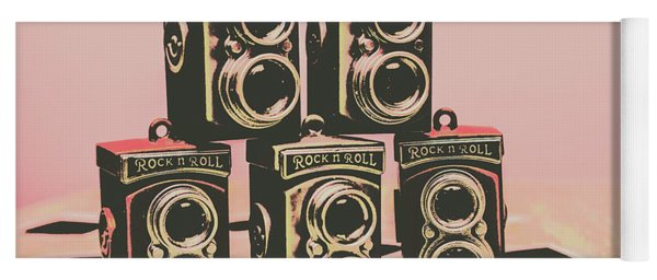 Retro Photo Camera Pop Art  Yoga Mat