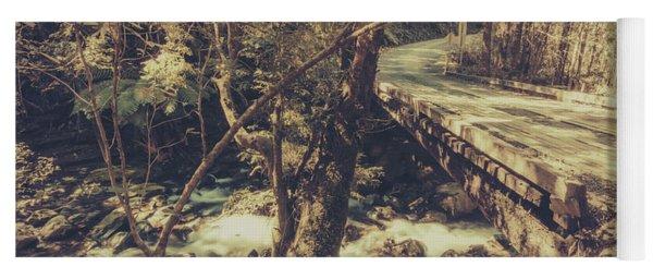 Retro River Crossing Yoga Mat