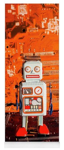 Retro Robotic Nostalgia Yoga Mat
