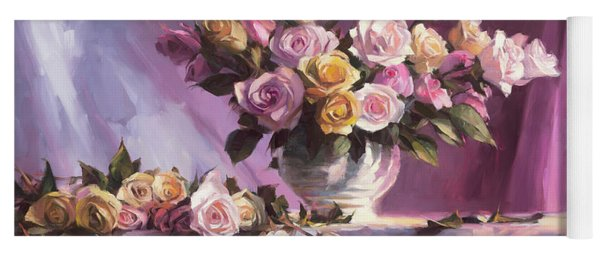 Rhapsody Of Roses Yoga Mat