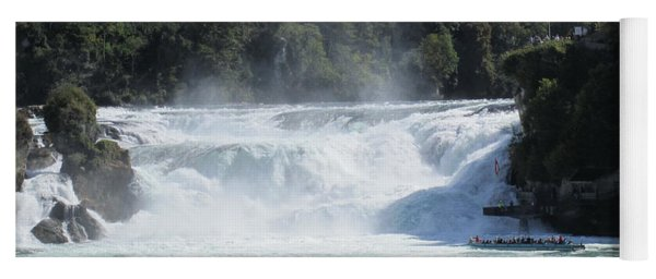 Yoga Mat featuring the photograph Rhine Falls In Switzerland by Travel Pics