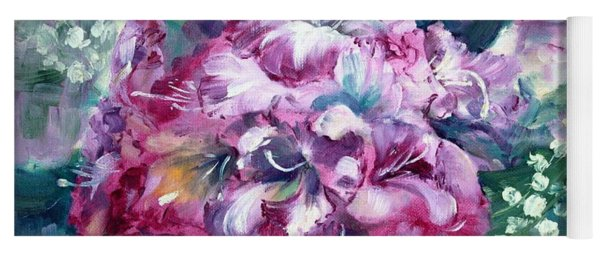 Rhododendron And Lily Of The Valley Yoga Mat