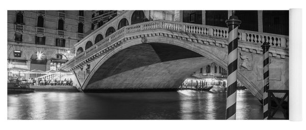 Rialto Bridge Black And White  Yoga Mat