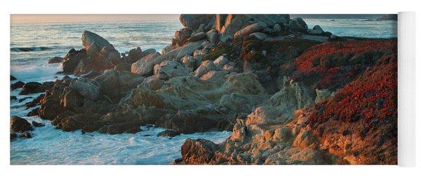 Ribera Beach Sunset Carmel California Yoga Mat