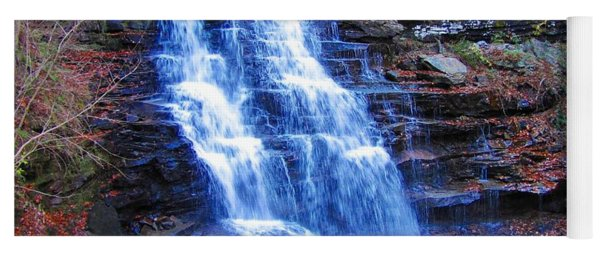 Yoga Mat featuring the photograph Ricketts Glen Waterfall 3941  by David Dehner