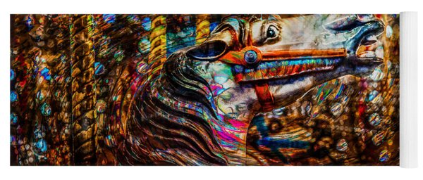 Yoga Mat featuring the photograph Riding A Carousel In My Colorful Dream by Michael Arend