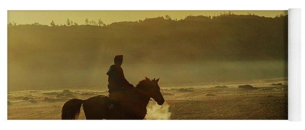Yoga Mat featuring the photograph Riding His Horse by Pradeep Raja Prints