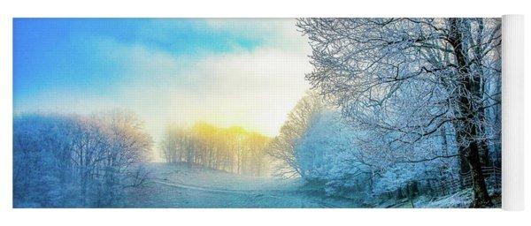 Rime Ice Sunrise Yoga Mat