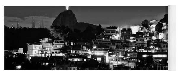 Rio De Janeiro - Christ The Redeemer On Corcovado, Mountains And Slums Yoga Mat