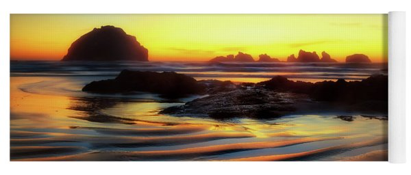 Ripple Effect Beach Image Art Yoga Mat