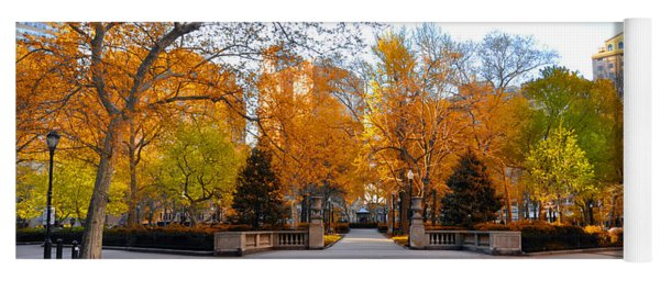 Yoga Mat featuring the photograph Rittenhouse Square Philadelphia Pa by Bill Cannon
