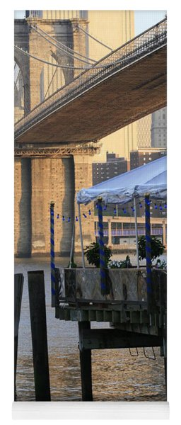 River Cafe With Brooklyn Bridge Yoga Mat