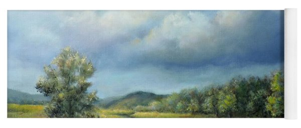 River Landscape Spring After The Rain Yoga Mat