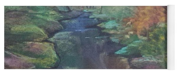 River In The Fall Yoga Mat
