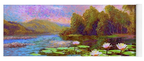 The Wonder Of Water Lilies Yoga Mat