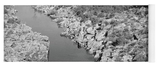River On The Rocks. Bw Version Yoga Mat