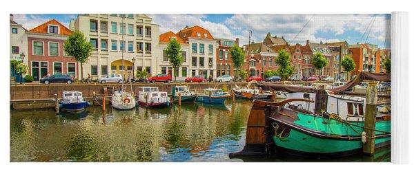 River Scene In Rotterdam Yoga Mat