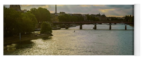 River Seine At Dusk Yoga Mat