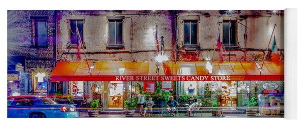 River Street Sweets Candy Store Savannah Georgia   Yoga Mat