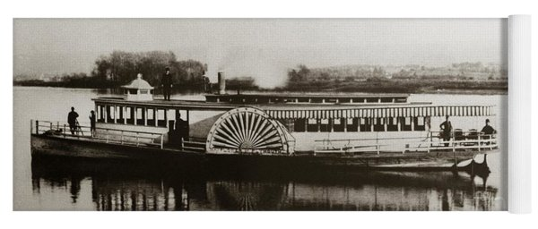 Riverboat  Mayflower Of Plymouth   Susquehanna River Near Wilkes Barre Pennsylvania Late 1800s Yoga Mat