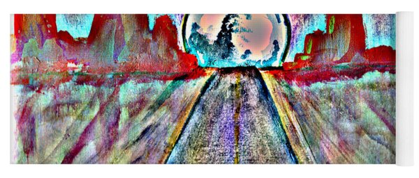 Yoga Mat featuring the painting Road To Sedona 2 by Reed Novotny