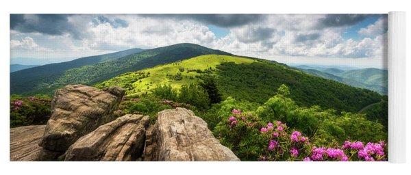 Roan Mountain Radiance Appalachian Trail Nc Tn Mountains Yoga Mat