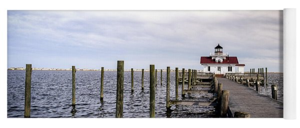 Roanoke Lighthouse - Manteo North Carolina Yoga Mat